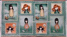 "QT Santoro's Gorjuss Heartfelt 24461 Q Teal Portrait Panel 24""x44"""