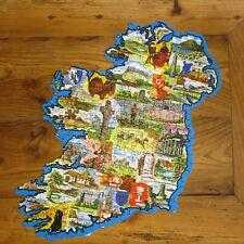 Ancien Puzzle 300 pièces Jig Map - Ireland - avec plaques quizz - 55x45cm
