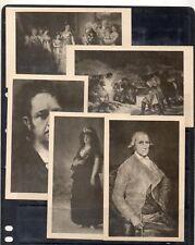 España Pintura Museo del Prado Goya postales años 1950 (DW-234)