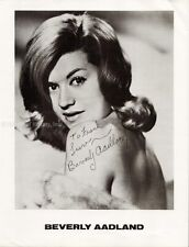 BEVERLY AADLAND - INSCRIBED PHOTOGRAPH SIGNED