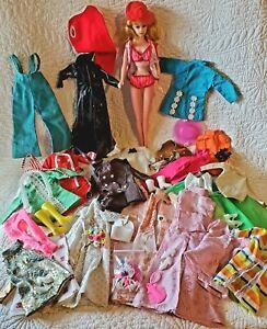 Vtg Peggy Ann Barbie Clone Lot Doll, Clothes,Shoes,Accessories Mod 1960's 1970's