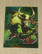 2015 Marvel Fleer Retro GREEN Precious Metal Gems PMG LOKI 1/10 #21