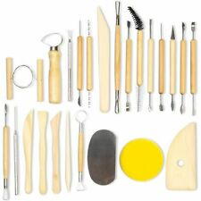 Pottery and Clay Sculpting Tools for Arts and Crafts (24 Pieces)