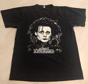 EDWARD SCISSORHANDS Johnny Depp T Shirt Black Size Medium Men's