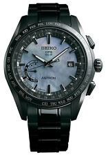 New Seiko Astron Solar GPS Black PVD Titanium Men's LTD Watch SSE091