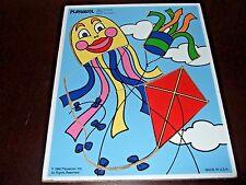 Playskool Vintage Wooden Jigsaw Puzzle Kites 186-17 5 pieces NICE!
