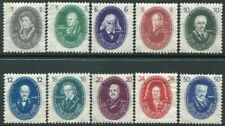 EAST GERMANY-1950 Academy of Sciences Set of 10 Values Sg E20-E29 LIGHTLY M/M