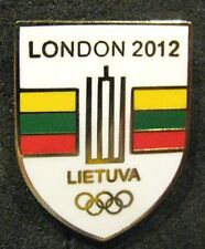Rare London 2012 LITHUANIA Olympic GAMES NOC Team Delegation dated pin