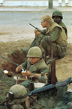 Vietnam War USMC Breaking In Position During Tet In Hue 1968 8.5x11 Photo