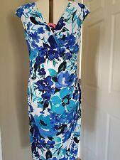 NWT Ralph Lauren Floral Sleeveless Empire Waist Cocktail Dress Size 14