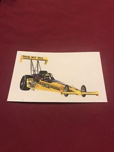 PENNZOIL Eddie Hill top fuel dragster vintage racing sticker decal
