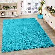 Prime Shaggy Teppich Farbe Türkis Hochflor Langflor 140 X 200 Cm