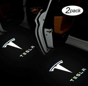 NEW - Ultra Bright LED Projector Puddle Lights for Tesla Model 3/Y/S/X T Logo