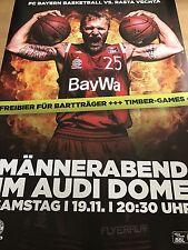 FC Bayern Basket 2017 Monaco ORIG. concert poster-POSTER GIGANTE 168 x 118