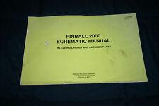 Williams Pinball 2000 System platform Schematic manual (#Man206)