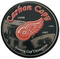 1997-1998 STANLEY CUP CHAMPIONS DETROIT RED WINGS  CARBON COPY HOCKEY PUCK 🇸🇰