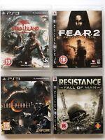 Fear 2 + Lost Planet 2 + Resistance + Dead Island -PS3 Game Bundle -(326)