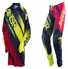 "Answer 2017 SYNCRON 32 ""/ M NOIR ROUGE acide Pantalon COMBO motocross enduro"
