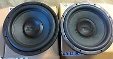 "NEW Pair Old School Earthquake 12"" SVC Prototype SQ Subwoofers,Rare,Vintage,USA"