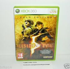 JEU XBOX 360 COMPLET RESIDENT EVIL 5 GOLD EDITION REF 15