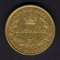 Australia.  1857 Sydney Mint - Half Sovereign.. aVF/F+ - Trace Lustre..