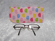 Jazberryz ELEPHANTS Pink Padded Spectacle Glasses Soft Pouch  New Handmade