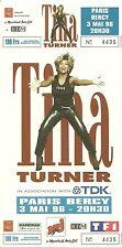 RARE / TICKET CONCERT - TINA TURNER LIVE PARIS BERCY - 3 MAI 1996 / COMME NEUF