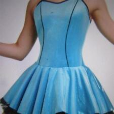 Winter Wonderland Mini Dot Velvet Skate Ocean Blue Curtain Call Costume