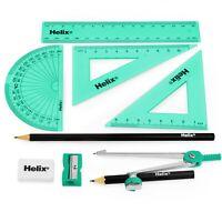 Helix Cool Curves Maths Geometry Exam Set - 9 Piece Assorted Green