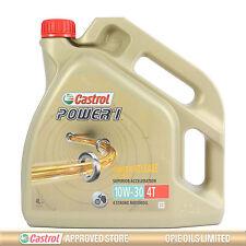 Castrol Power 1 4T 10w-30 Motorcycle 4 Stroke Engine Oil 10W30 4 Litres 4L