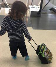 "Teenage Mutant Ninja Turtle 12"" Rolling Backpack  Toddler/child size Has flaw"