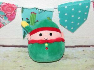"Squishmallow Elliot the Elf Christmas Green Santa Stuffed Plush Mini Baby 5"" Toy"