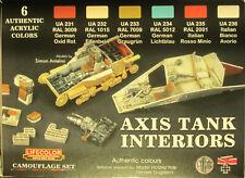 LifeColor Acrílicos LC-CS22 Segunda Guerra Mundial Eje Tanque interiores 6 Color Paint