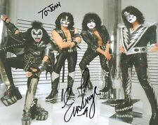 Eric Singer+Tommy Thayer Authentic Signed 8x10 Color Photo Kiss To John