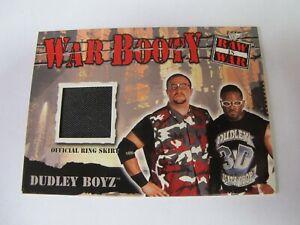 2001 WWF FLEER RAW IS WAR DUDLEY BOYZ WAR BOOTY RING SKIRT RELIC CARD WWE ECW