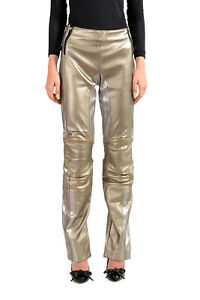 "Roberto Cavalli ""Gym"" Women's Faux Leather Biker Pants US M IT 42"