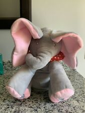Peek-a-Boo Talking and Singing Plush Elephant. Gray/Pink. Brand New!