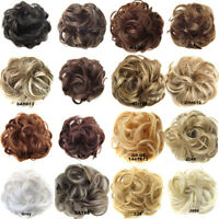 Beauty Women Wave Hair Bun Ponytail Comb Hair Extension Hairpiece Wigs