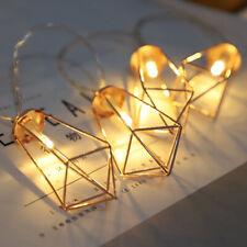 LED Diamond Shape Fairy String Light Retro Iron Metal Wedding Lantern Lamp