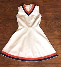 VTG 60s 70s V-Neck Tennis Preppy Sleeveless A-Line Mini Dress Go Go Mod S/M