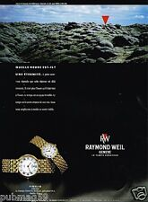 Publicité advertising 1989 Les Montres Fidelio raymond Weil