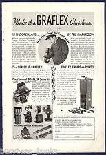 1935 GRAFLEX CAMERA advertisement, National Graflex Series B Graflex accessories
