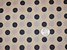 "Navy Blue Polka Dot Fabric-Poly/Cotton -1 1/4 Yds.- (46"" X 60"")"
