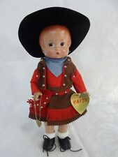 "Effanbee Patsy Doll Cowgirl Reproduction 13"" with Tag and Bracelet 1995"