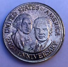 Nixon Washington bicentennial silver coin 1776-1976 misprint RARE