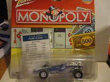 Johnny Lightning Monopoly Park Place Blue '70 Indy Race Car 1:43 Scale