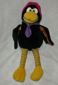 "Vintage Russ Berrie brand Calvin Crow Plush Stuffed Animal 497 9"" 15"""