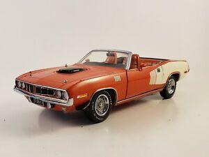 "Franklin Mint 1971 Plymouth Hemi Cuda Convertible ""RED & WHITE"" LE 2500  *READ*"