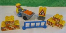 Lego Duplo 3279 Busy Bob The Builder Playset-Wheelbarrow/Sign/ Building Brick lot