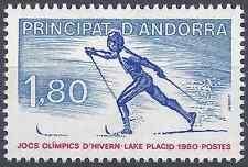 ANDORRE FRANÇAIS N°283 JEUX OLYMPIQUES D'HIVER LAKE PLACID 1980 NEUF ** LUXE MNH